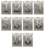 isolerad metall numrerar typ Arkivbilder