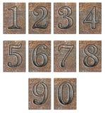 isolerad metall numrerar typ Royaltyfria Foton