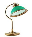 Isolerad metalltabell-lampa Arkivbild