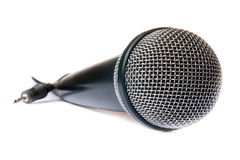 isolerad mikrofon Royaltyfria Foton