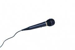 isolerad mikrofon Fotografering för Bildbyråer
