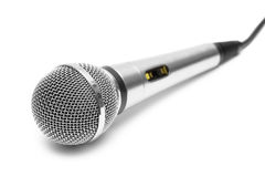 isolerad mikrofon Royaltyfri Fotografi