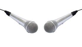 isolerad mikrofon Arkivfoto