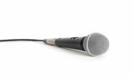 isolerad mikrofon Royaltyfria Bilder
