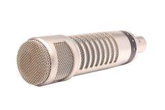 isolerad mikrofon Arkivbilder