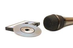 isolerad mikrofon för disk dvd Arkivfoton