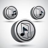 Isolerad mikrofonsymbol, för temavektor för musik 3d beståndsdel för design Royaltyfri Foto