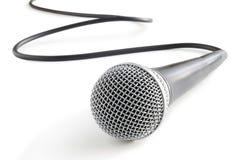 isolerad mikrofonwhite royaltyfri bild