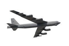 Isolerad militär bombplan Royaltyfri Foto