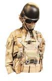 Isolerad militär likformig royaltyfri fotografi