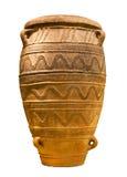 Isolerad Minoan stor lagringsjar (1450-1400 B.C.) Royaltyfri Fotografi
