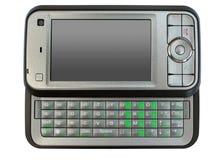 isolerad mobil modern telefon Royaltyfri Foto
