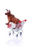 isolerad model shoppingwhite för vagn ko Arkivfoton