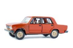 Isolerad modell för leksak bil Arkivbilder