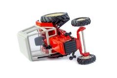 Isolerad modell för leksak traktor Fotografering för Bildbyråer