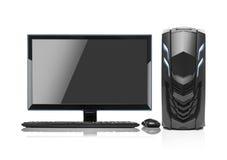 Isolerad modern dator för skrivbords- PC Arkivfoto