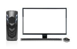 Isolerad modern dator för skrivbords- PC Royaltyfria Bilder