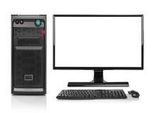 Isolerad modern dator för skrivbords- PC Arkivbilder