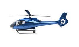 Isolerad modern helikopter Fotografering för Bildbyråer