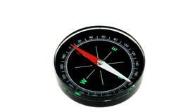 Isolerad modern ny svart magnetisk kompass Fotografering för Bildbyråer