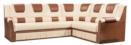 isolerad modern sofa för underlag möblemang Arkivbilder