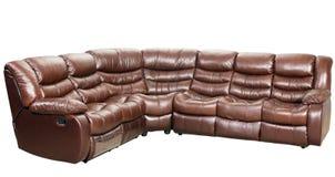 isolerad modern sofa för underlag möblemang Arkivbild