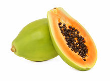 (Isolerad) mogen papaya, Arkivfoton