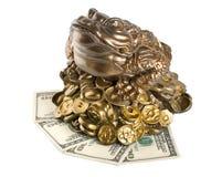 isolerad moneybox Arkivfoton