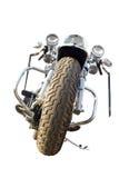 isolerad motorcykel arkivbilder
