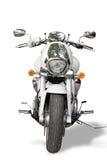 isolerad motorcykel Arkivbild