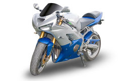 isolerad motorcykel Royaltyfri Foto