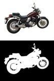 isolerad motorcykel Arkivfoto