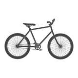 Isolerad MTB-svartcykel Royaltyfria Bilder