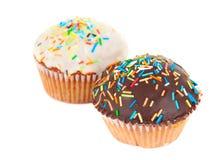 isolerad muffin Arkivbilder
