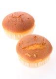 Isolerad muffin av bananefterrätten Royaltyfria Foton