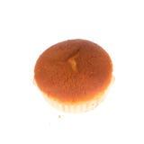 Isolerad muffin av bananefterrätten Arkivfoto