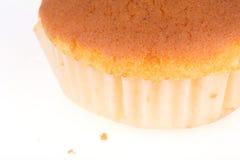 Isolerad muffin av bananefterrätten Royaltyfri Fotografi