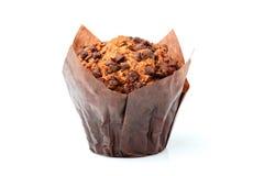 isolerad muffin för chip choklad Royaltyfria Foton