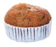 Isolerad muffin för kaka för brun kopp för banan Arkivbild