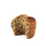 Isolerad muffin för pecannötmutter Royaltyfri Fotografi