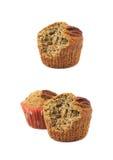 Isolerad muffin för pecannötmutter Arkivbilder