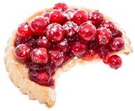 Isolerad muffin för röd vinbär Royaltyfria Bilder
