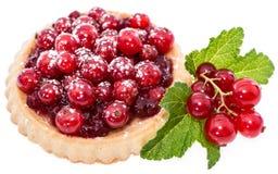 Isolerad muffin för röd vinbär Royaltyfria Foton