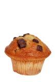 isolerad muffin för banan choklad Royaltyfri Bild
