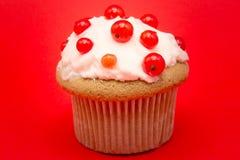 Isolerad muffin med vinbäret Royaltyfria Bilder