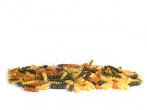 isolerad multicolor pasta royaltyfri foto
