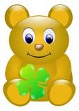 Isolerad nallebjörn för lycklig födelsedag stock illustrationer