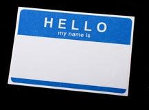 Isolerad Name etikett Arkivbilder
