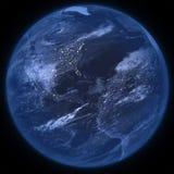 Isolerad nattplanetjord - PNG royaltyfri illustrationer