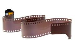 isolerad negativ rulle för 35mm classic film Royaltyfri Foto